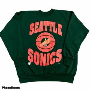 Vintage Seattle SuperSonics Crewneck Sweatshirt